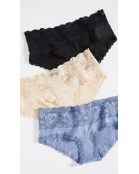 Cosabella Never Say Never Maternity Hotpant Panty Pack - Blue
