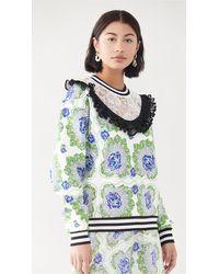 Rodarte Floral Printed Sweatshirt - Multicolour
