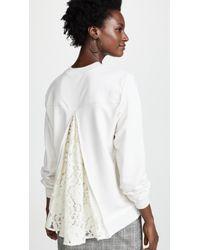 CLU - Lace Trimmed Sweatshirt - Lyst