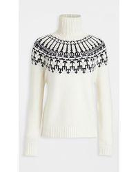 Tory Sport Mountain Fair Isle Sweater - White