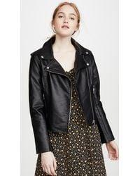 BB Dakota Just Ride Vegan Leather Jacket - Black
