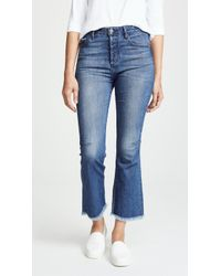 Tortoise - Bellatula Highrise Cropped Flare Jeans - Lyst