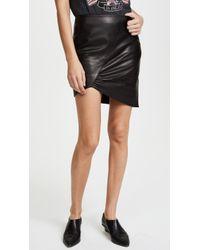 Anine Bing   Asymmetric Leather Skirt   Lyst