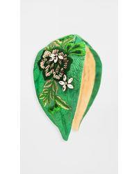 NAMJOSH Green Brocade Embellished Headband