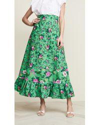 Leur Logette Fairy Rose Maxi Skirt - Green