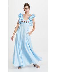 FANM MON Demre Dress - Blue