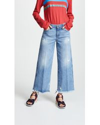 Tortoise - Canni Slouchy Wide Leg Cropped Jeans - Lyst