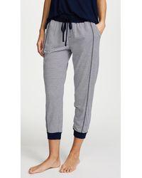 Splendid Always Stripe Crop Pj Trousers - Blue