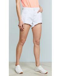One Teaspoon - White Beauty Trucker Shorts - Lyst