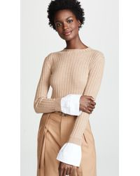 Edition10 - Ribbed Sweater With Cuffs - Lyst