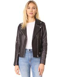SOIA & KYO - Jasmina Moto Leather Jacket - Lyst