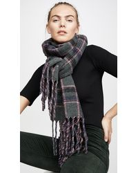 Franco Ferrari Double Faced Plaid Scarf - Pink