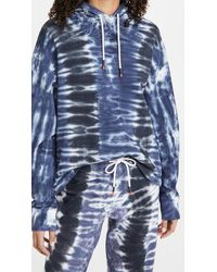 Tory Sport French Terry Tie Dye Hoodie - Blue