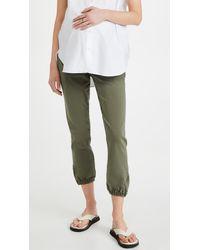 PAIGE Mayslie Maternity Sweatpants - Green