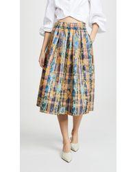 Forte Forte Sea Roses Jacquard Skirt - Multicolor