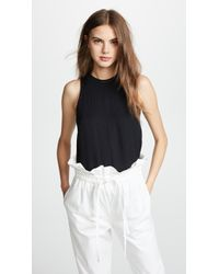 Vince - Ribbed Trim Tank Top - Lyst