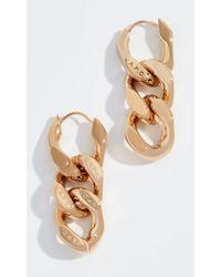 A.P.C. D'oreilles Gravure Earrings - Metallic