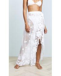 Miguelina - Valencia Wrap Skirt - Lyst