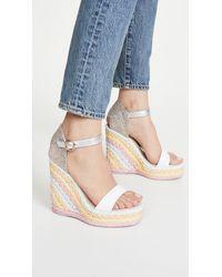 Sophia Webster Women's Lucita Platform Wedge Espadrille Sandals - White