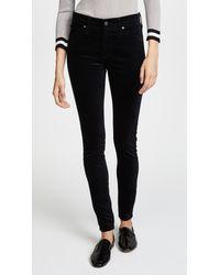 AG Jeans Farrah Skinny Velveteen Pants - Black