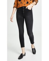 Joe's Jeans - The Hi Honey Ankle Button Fly Jeans - Lyst