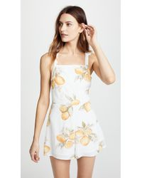For Love & Lemons - Lemonade Romper - Lyst
