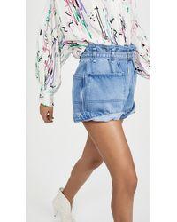Isabel Marant Paper Bag Shorts - Blue