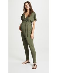 9671f3706b52 Lyst - Splendid Rayon Voile Crossover Jumpsuit in Brown