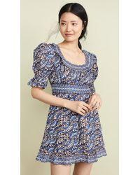 Sea Luella Long Sleeve Scoop Neck Dress - Blue