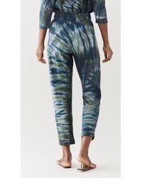Raquel Allegra Tie Dye Easy Trousers - Blue