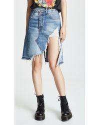 R13 Norbury Denim Skirt In Jasper - Blue