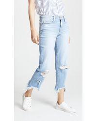 FRAME - Le Nouveau Stiletto Hem Jeans - Lyst