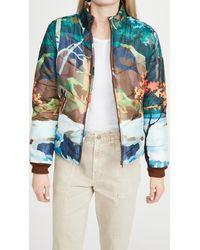 Mother The Last Resort Puffer Jacket - Blue