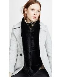 Jocelyn Solid Rex Rabbit Knitted Infinity Scarf - Black