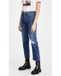 RE/DONE 70s Stove Pipe Jeans - Blue