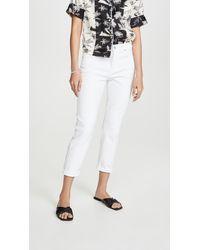 7 For All Mankind Josefina Boyfriend Jeans - White