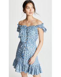 Tiare Hawaii Rose Short Dress - Blue