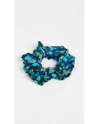Ganni Silk Mix Scrunchie - Blue