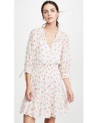 Rebecca Taylor Long Sleeve Maui Clip Dress - Multicolour