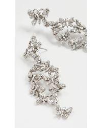 Oscar de la Renta Pave Butterfly Earrings - Metallic