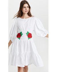 FANM MON Salda Dress - White