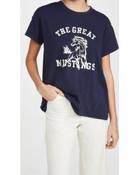 The Great The Boxy Crew With Mustang Graphic - Blue