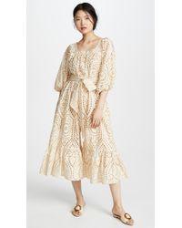 Lisa Marie Fernandez - Laure Eyelet-embroidered Cotton Jumpsuit - Lyst