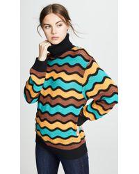 M Missoni - Striped Turtleneck Pullover - Lyst