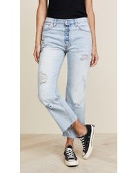 Free People - Rolling On The River Straight Crop Jeans - Lyst