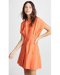 Carven - Pleated Skirt Dress - Lyst