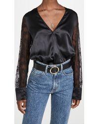 Cami NYC Bette Thong Bodysuit - Black