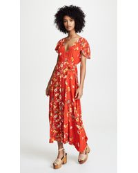 Free People - Gorgeous Jess Wrap Dress - Lyst