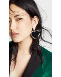 BaubleBar - Imitation Pearl Studs With Fabric Heart Earrings - Lyst