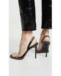 Alexander Wang Women's Nova Slingback High - Heel Sandals - Black